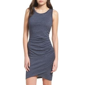 Leith Dark Gray Ruched Dress